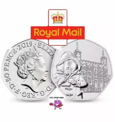 Paddington Bear Tower Of London 50p Coin 2019 GENUINE U.K. SELLER Royal Mail