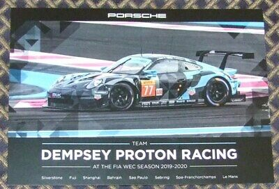 4 Hours of Silverstone 2019 #77 Dempsey Proton Racing Porsche 911 RSR Card