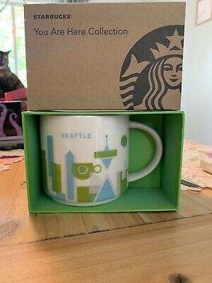 Starbucks Seattle You Are Here (YAH) 14oz Coffee Mug Cup NEW IN BOX