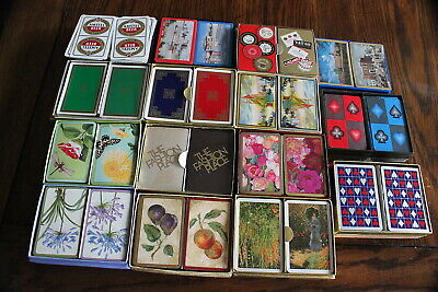 Large Lot of 14 Double Deck  Playing Cards