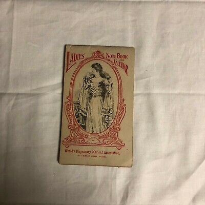 Dr. Pierce's Ladies Note Book Calendar 1911 Healing Salve Antique Medicine