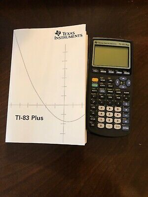 CLEAN Texas Instruments TI83 Plus Graphing Calculator WORKING TESTED W BOOK