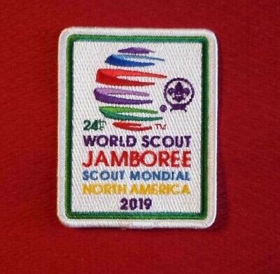 2019 24th WORLD JAMBOREE  POCKET PATCH SCOUT MONDIAL NORTh AMERICA English