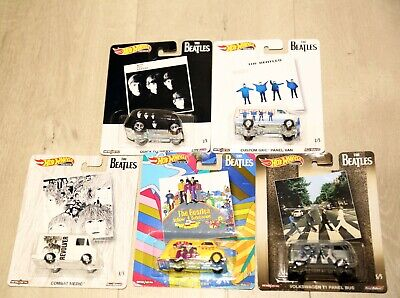 Brand New Hot Wheels 2019 Pop Culture The Beatles, 1/64 Diecast Cars, Set of 5