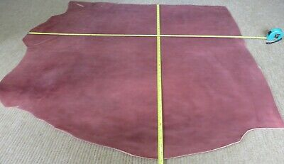 """TERRACOTTA  VEG TAN  LEATHER HIDE  39"""" X 40""""   2.2mm THICK  CLEARANCE"""