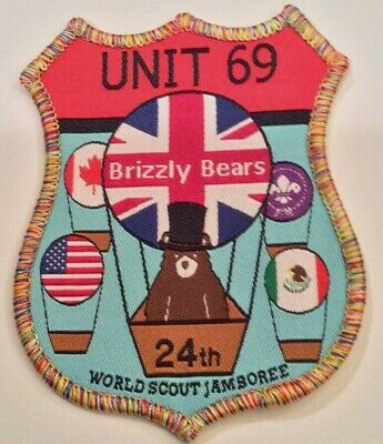 Unit 69 Brizzly Bears UK Badge 2019 24th World Boy Scout Jamboree MINT