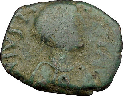 Justin I 518AD Big Authentic  Ancient Medieval Byzantine Coin Large K  i38329