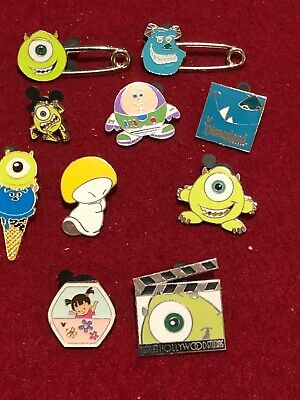 10  Disney pins  Movies 9 Monsters Inc  As Seen Lot x