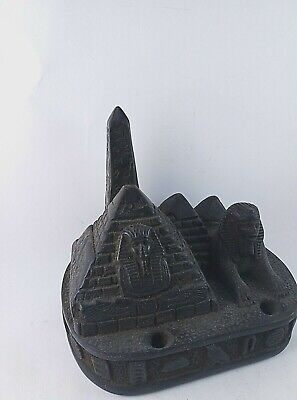 RARE ANTIQUE ANCIENT EGYPTIAN Sitting Sphinx Giza 4 Pyramids Stone 1335-1325 Bc