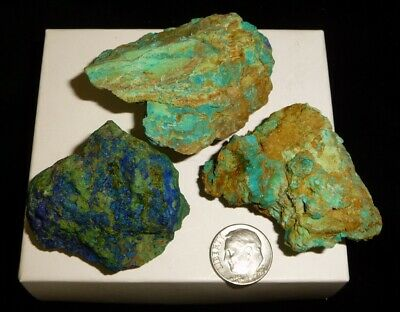 Chrysocolla Azurite Rough Display Specimens Mexico 126 grams US Based Seller