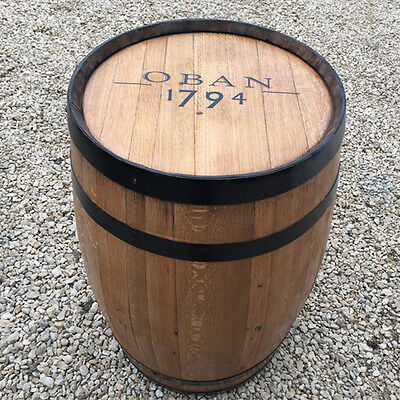 "Solid Wooden Oak Recycled Whisky Barrel ""Oban"" Branded Patio Table"