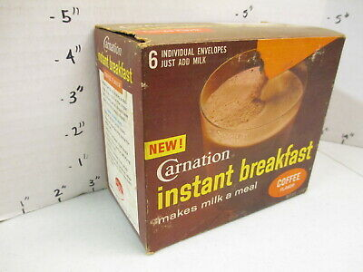Carnation Instant Breakfast 1960s drink mix COFFEE flavor store display box