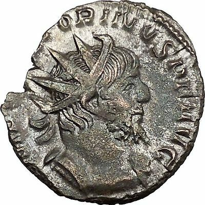 Victorinus  269AD Very rare Silvered Ancient Roman Coin Salus Health Cult i39003