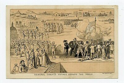 General Ulysses S Grant Trip Around World 1879 Political Trade Card Parade