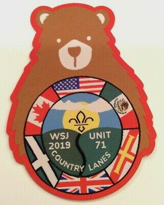 Unit 71 Country Lanes UK Badge 2019 24th World Boy Scout Jamboree MINT