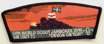 Unit 73 Devon on Tor UK CSP Shape Badge 2019 24th World Boy Scout Jamboree MINT