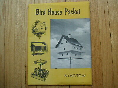 CRAFT PATTERNS by A. Neely Hall  11 Bird House Feeder & Bath Plans Wood Projects