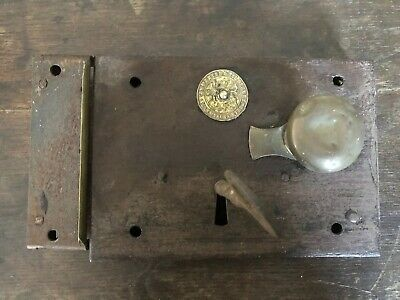 Original Antique Tildesley Carpenter Door Rim lock