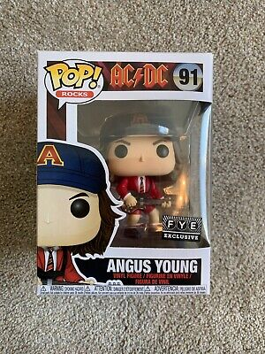 Funko Pop! AC/DC Angus Young With Guitar Red Jacket Fye Exclusive