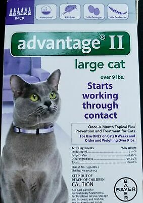 Bayer Advantage II Flea Treatment for Large Cats Over 9 lbs - 6 Pack, 6 Doses