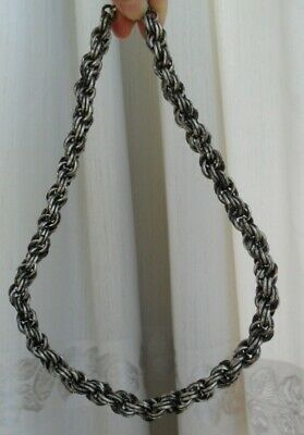 Tribe  Exotic Chinese Handmade Miao Silver Necklace