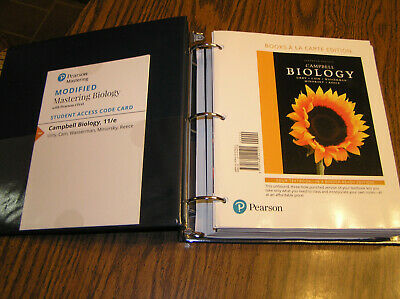 Campbell Biology 11th Edition A La Carte Loose Leaf Edition In Binder VGC