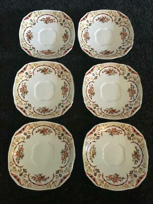 Vintage Alfred Meakin Art Deco Saucers Only (6) - Collectable