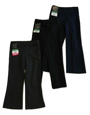 NEW Girls School Trousers BHS Black Grey Navy 4 5 6 7 8 9 10 11 YEARS