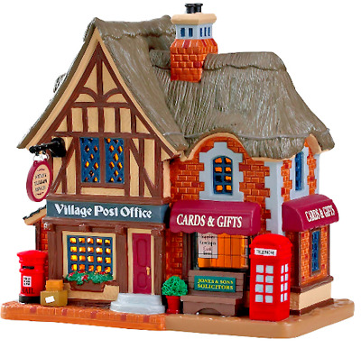 Lemax Christmas Village Post Office #85346 Lighted Building Decor House Ornament