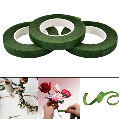 4xGreen Florist Stem Tape Wire Floral Floristry Work Corsages Button Holes Hot