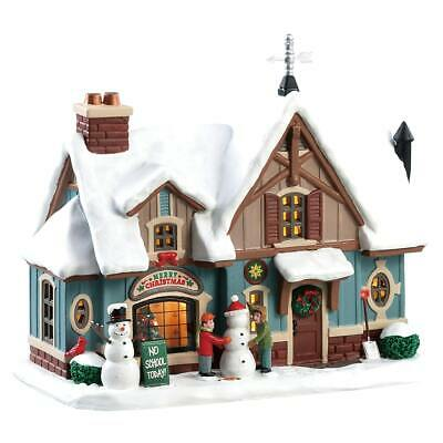 Lemax Christmas Village Snow Day #85356 Lighted Building Home Decor Ornament