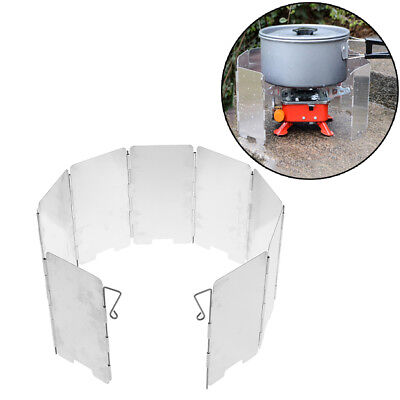 Picnic Wind Guard Cookware Cookout Stove Outdoor Supplies Foldable Wind Shi~GN