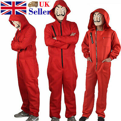 Salvador Dali La Casa De Papel Costume Money Heist Jumpsuit Mask Cosplay Outfits