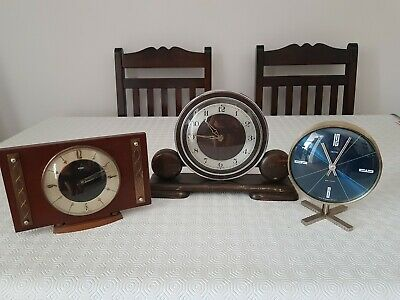 3 Antique/Retro/Art Deco,Collectors Mantle Clocks, (ALL NEED ATTENTION) Used