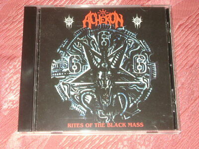 "Acheron ""Rites of the Black Mass"" (1992) CD deicide, death, cannibal corpse"