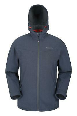Mountain Warehouse Mens Breathable Softshell Jacket with Water Resistant