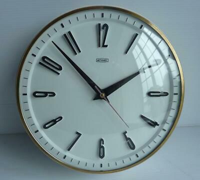 """Vintage """"Metamec"""" Battery Wall Clock - V.G.C. for age - In Good Working Order"""