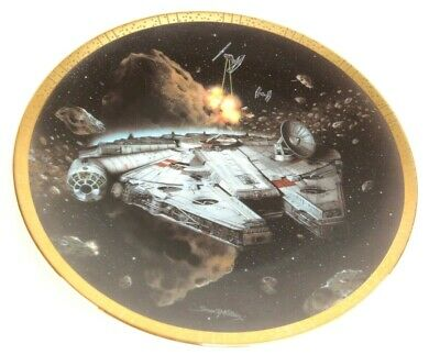 8 Inch Millennium Falcon, Hamilton Collection Star Wars Space Vehicles Plate