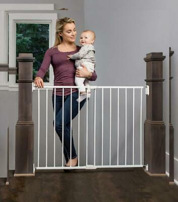 Regalo 2-in-1 Extra Wide Stairway and Hallway Walk Through Baby Safety Gate...