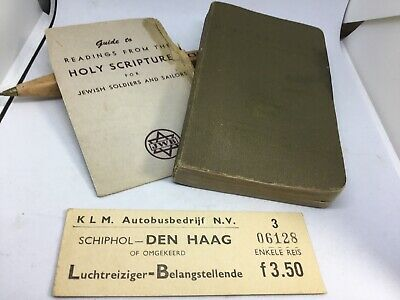 Vintage Original US Military WW2 Jewish Prayer Book 1941 Plus 2 Other Items