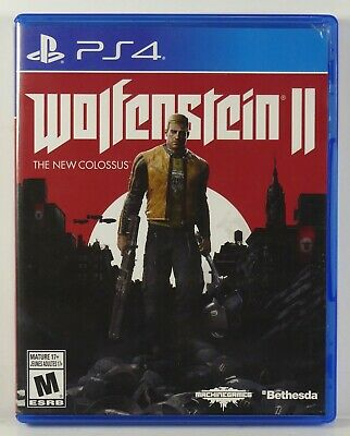Wolfenstein II: The New Colossus (Sony Playstation 4, 2018) Complete, Tested