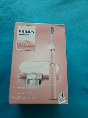 Philips pink diamond clean toothbrush with charger stand & charging travel case