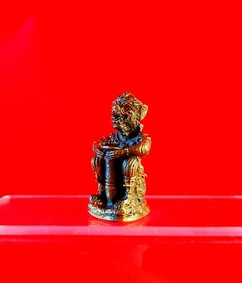 Monkey Hanuman Giant LP Thai Buddha Amulet Talisman Powerful Merit Charm Brass