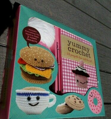 Yummy Crochet Book With 12 Projects Kit To Make Doughnut And Cupcake