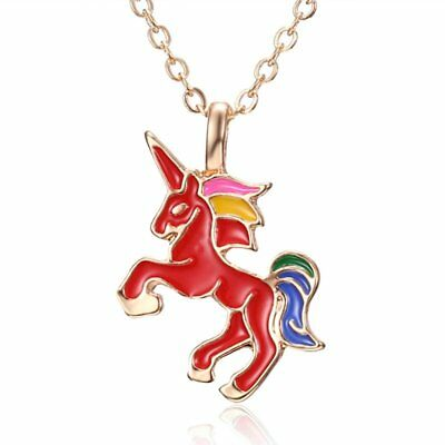 Fashion Men Women Unisex Red Lovely Animal Horse Pendant Necklace Chain Jewelry