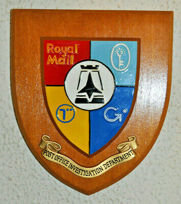 Royal Mail Post Office Investigation Department wall plaque shield