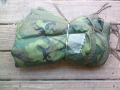 1990 NEW  Condition US MILITARY ISSUE WOODLAND CAMOUFLAGE ARMY PONCHO LINER
