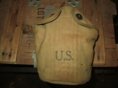 WWII WW2  M-1910 Canteen Cover Pouch US ARMY  USMC ORIGINAL foley 42 early war