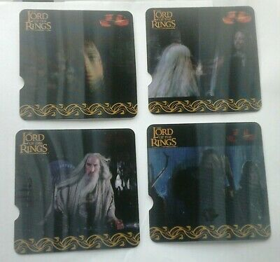 """Lord Of The Rings """" Motion"""" Cards Set From Nestle Cereal"""