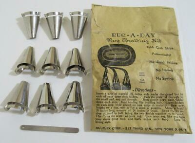 Vintage  Rug-a-Day Braider Rug Braiding Kit -  Braiders tools & Directions